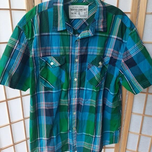 Nautica Other - Nautica Jeans Co NJ-99 Men's Shirt L